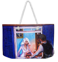 Intimate Conversation Weekender Tote Bag