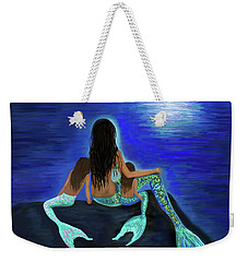 Weekender Tote Bag featuring the painting My Adorable Girls by Leslie Allen