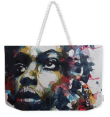 Weekender Tote Bag featuring the painting My Baby Just Cares For Me  by Paul Lovering
