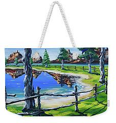 My Backyard Weekender Tote Bag