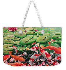 My Backyard Pond Weekender Tote Bag