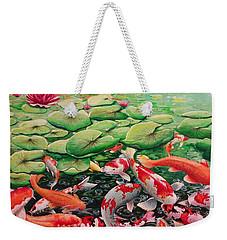 My Backyard Pond Weekender Tote Bag