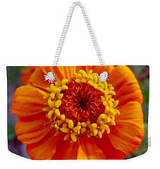 My Bit Of Orange Zinnia Heaven Weekender Tote Bag