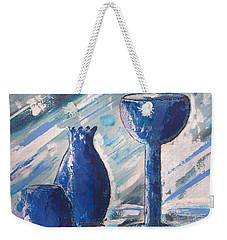 My Blue Vases Weekender Tote Bag by J R Seymour
