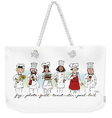 My Chefs In A Row-ii Weekender Tote Bag