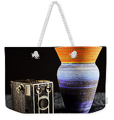 Weekender Tote Bag featuring the photograph My Dad's Camera by Jeremy Lavender Photography