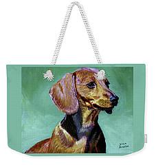 My Daschund Weekender Tote Bag by Stan Hamilton