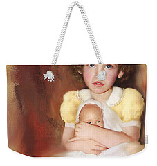 Weekender Tote Bag featuring the photograph My Dolly by Bonnie Willis
