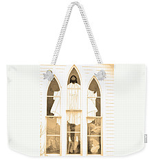 My Fathers Church Window Weekender Tote Bag by Lenore Senior