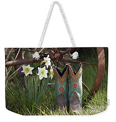 Weekender Tote Bag featuring the photograph My Favorite Boots by Benanne Stiens