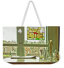 Weekender Tote Bag featuring the photograph My Favourite Cafe by Anne Kotan