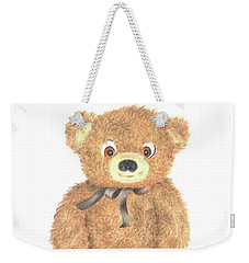 My Friend - Bear Weekender Tote Bag by Troy Levesque