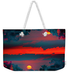 Weekender Tote Bag featuring the photograph My First Sunset- by JD Mims