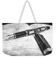 My Fountain Pen Weekender Tote Bag by Martina Fagan