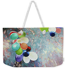 Weekender Tote Bag featuring the painting My Friend The Wind. by Anastasija Kraineva