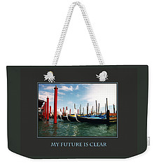 Weekender Tote Bag featuring the photograph My Future Is Clear by Donna Corless
