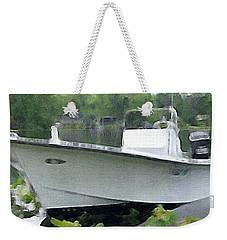 My Grandson's Boat Weekender Tote Bag
