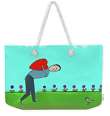 Weekender Tote Bag featuring the digital art My Heart For You by Haleh Mahbod