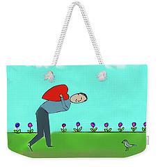 My Heart For You Weekender Tote Bag by Haleh Mahbod