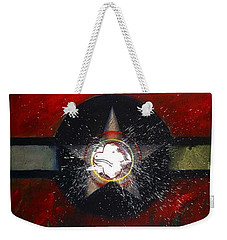 Weekender Tote Bag featuring the painting My Indian Red by Charles Stuart