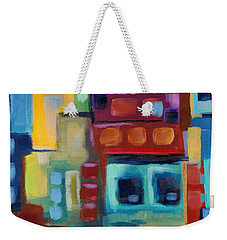 Weekender Tote Bag featuring the painting My Jazz N Blues 3 by Holly Carmichael