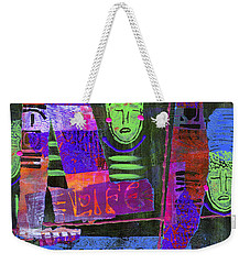 My Life Is Blue Weekender Tote Bag by Angela L Walker