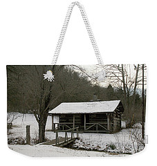 My Lil Cabin Home On The Hill In Winter Weekender Tote Bag