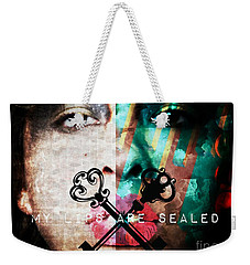 My Lips Are Sealed Weekender Tote Bag by Jessica Shelton