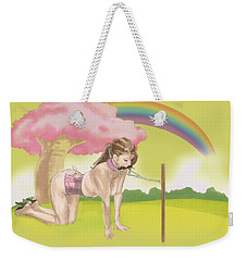 Weekender Tote Bag featuring the mixed media My Little Pony by TortureLord Art
