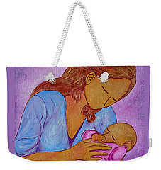 Weekender Tote Bag featuring the painting My Little Sweetness by Gioia Albano