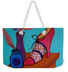 Weekender Tote Bag featuring the painting My Love by Pristine Cartera Turkus