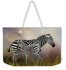 Weekender Tote Bag featuring the photograph My Mom Has A Butterfly On Her Tail by Diane Schuster