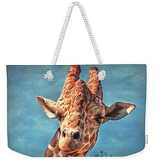 Weekender Tote Bag featuring the photograph My Name Is Bingwa by Hanny Heim