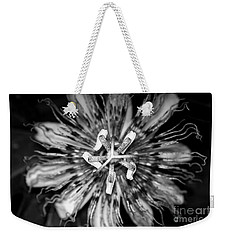 My Passionflower - Black And White Weekender Tote Bag