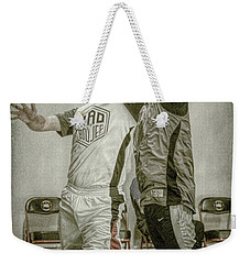 Weekender Tote Bag featuring the photograph My Rebound by Ronald Santini