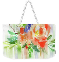 Weekender Tote Bag featuring the painting My Roses Gently Weep by Colleen Taylor