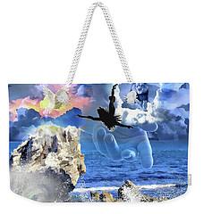 Weekender Tote Bag featuring the digital art My Savior by Dolores Develde