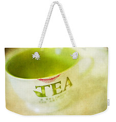 Weekender Tote Bag featuring the photograph My Second Favorite Beverage by Rebecca Cozart