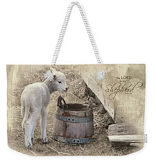 Weekender Tote Bag featuring the photograph My Shepherd by Robin-Lee Vieira