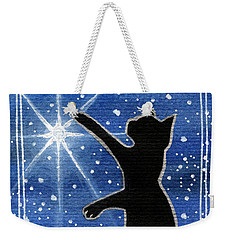 My Shinning Star - Christmas Cat Weekender Tote Bag