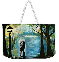 Weekender Tote Bag featuring the painting My Soulmate by Leslie Allen