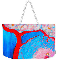 Weekender Tote Bag featuring the painting My Spring by Ana Maria Edulescu