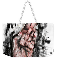 Weekender Tote Bag featuring the digital art My Story by Sladjana Lazarevic