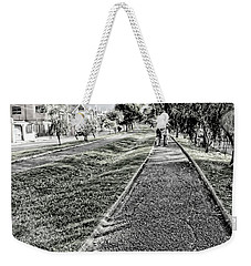 Weekender Tote Bag featuring the photograph My Street II by Al Bourassa