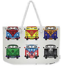 My Superhero-vw-t1-supermanmy Superhero-vw-t1-universe Weekender Tote Bag