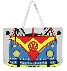 My Superhero-vw-t1-supermanmy Superhero-vw-t1-wonder Woman Weekender Tote Bag