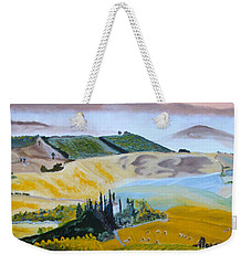 My Tuscan Valley View Weekender Tote Bag