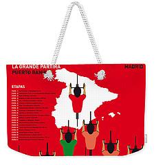 My Vuelta A Espana Minimal Poster Etapas 2015 Weekender Tote Bag by Chungkong Art