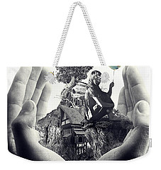 Weekender Tote Bag featuring the digital art My Way by Mo T