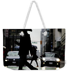 Weekender Tote Bag featuring the photograph My World Hers Two by Empty Wall